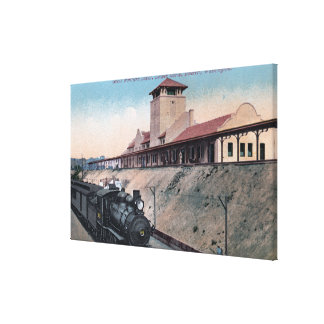 Great Northern Railroad Depot 2 Canvas Print