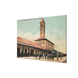 Great Northern Railroad Depot Canvas Print