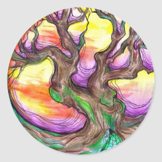 great oak elder classic round sticker