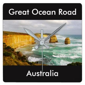 Great Ocean Road Australia Square Wall Clock