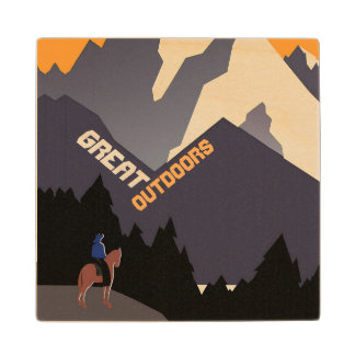 Great Outdoors Montana Wood Coaster