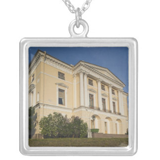 Great Palace of Czar Paul I, exterior 2 Silver Plated Necklace