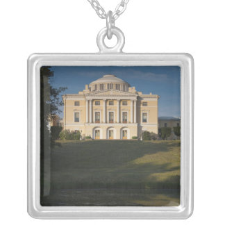 Great Palace of Czar Paul I, exterior Silver Plated Necklace