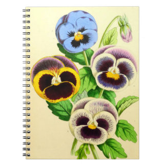 Great Pansies Spiral Note Book