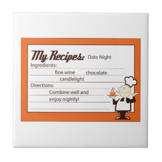 Great Party Recipe Small Square Tile