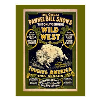 Great Pawnee Bill 1903 - Vintage Wild West Postcard