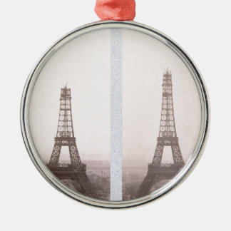 Great photo of Tour Eiffel in construction 1800 Christmas Ornament
