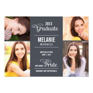 Great Pride Graduation Invitation Announcement Custom Invitation
