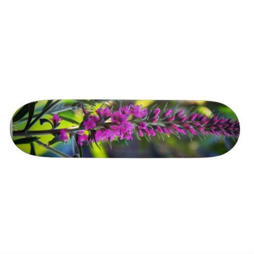 Great Purple Flower Skate Decks