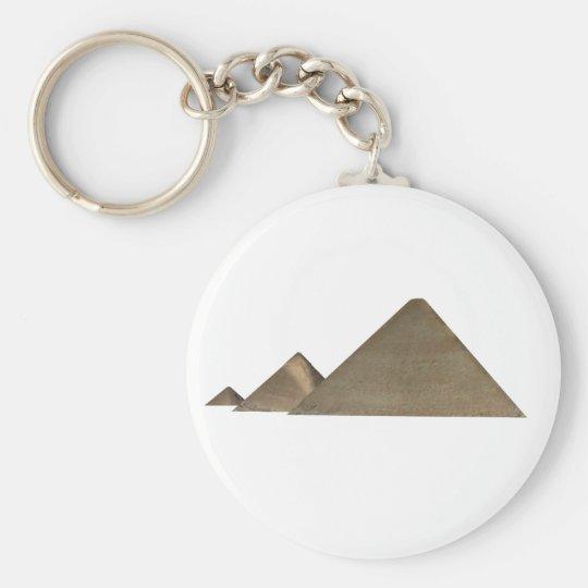 Great Pyramid of Giza: Basic Round Button Key Ring