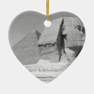 Great Pyramid of Giza Ceramic Heart Decoration