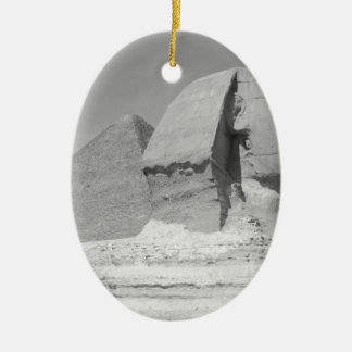 Great Pyramid of Giza Ceramic Oval Decoration