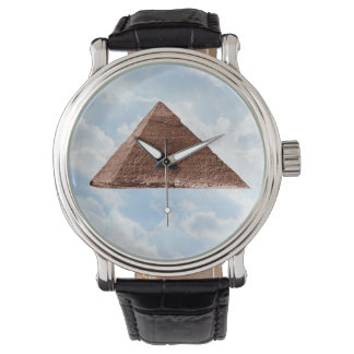 Great Pyramid - Vintage Leather Strap Watch