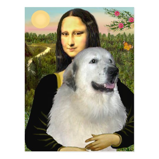 Great Pyrenees 9 - Mona Lisa Postcard