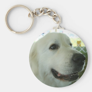 Great Pyrenees Basic Round Button Key Ring