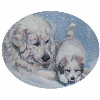 great pyrenees Christmas Ornament Acrylic Cut Outs