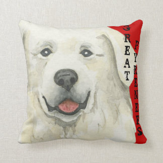 Great Pyrenees Color Block Cushion