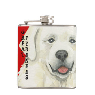 Great Pyrenees Color Block Hip Flask