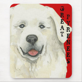 Great Pyrenees Color Block Mouse Pad