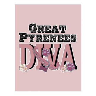 Great Pyrenees DIVA Postcard