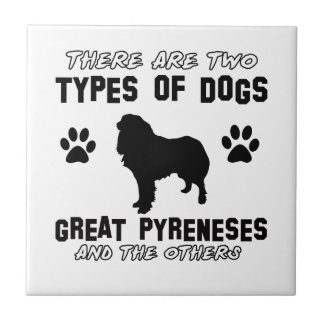 Great Pyrenees dog breed designs Tile