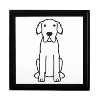 Great Pyrenees Dog Cartoon Gift Box