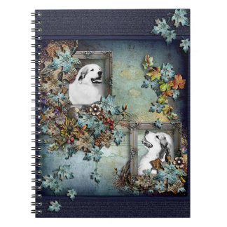 """Great Pyrenees """"Father and Son"""" Design Spiral Notebooks"""