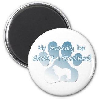 Great Pyrenees Granddog 6 Cm Round Magnet