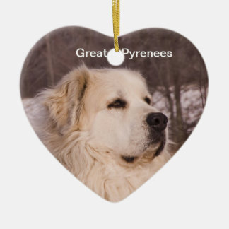 Great Pyrenees Heart Ceramic Heart Decoration