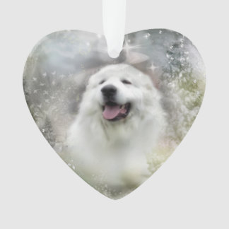 Great Pyrenees Ornament - Winter Design