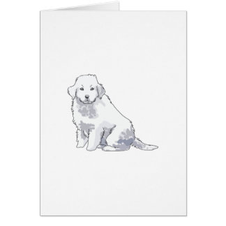 GREAT PYRENEES PUP CARD