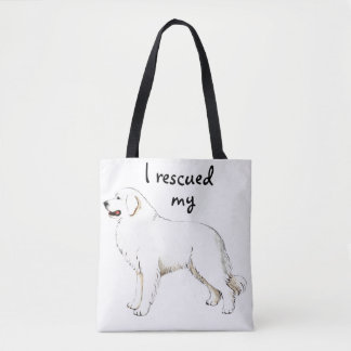 Great Pyrenees Rescue Tote Bag