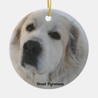 Great Pyrenees Round Ceramic Decoration