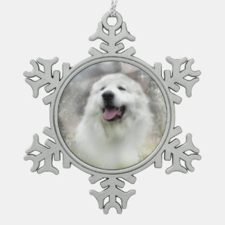 Great Pyrenees Snowflake Ornament - Winter Design