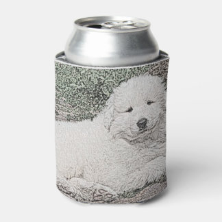 Great Pyrenees Sweet Puppy Sketch 1 Can Cooler