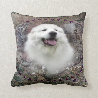 "Great Pyrenees Throw Pillow - ""Beautiful Benny"""