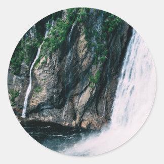 great Quebec waterfall scenery Round Sticker