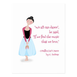 Great Quotations_Dance Postcard