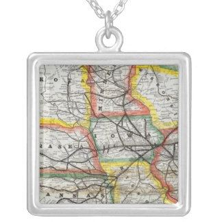 Great Rock Island Route Silver Plated Necklace