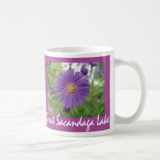 Great Sacandaga Lake Purple Burst Basic White Mug