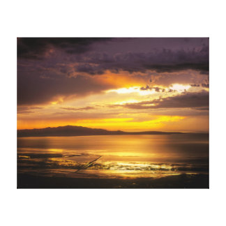 Great Salt Lake Sunset Canvas Print