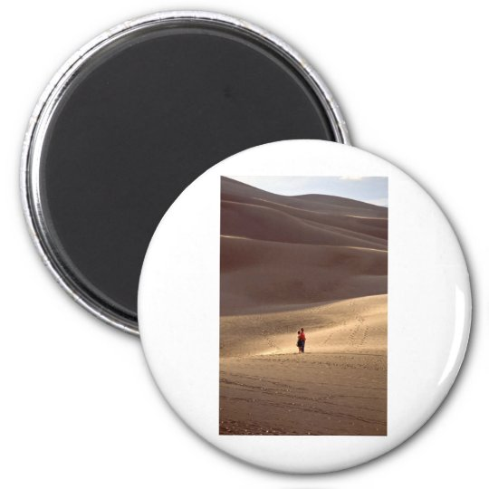 Great Sand Dunes CO 6 Cm Round Magnet