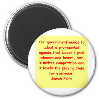 great Sarah Palin quote 6 Cm Round Magnet