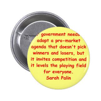 great Sarah Palin quote Pinback Buttons