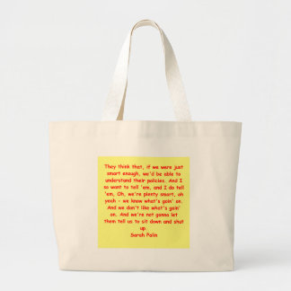 great Sarah Palin quote Canvas Bags