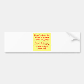 great Sarah Palin quote Bumper Stickers
