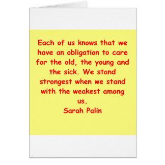 great Sarah Palin quote Greeting Cards