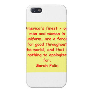 great Sarah Palin quote Cover For iPhone 5/5S