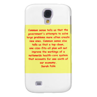 great Sarah Palin quote Galaxy S4 Case