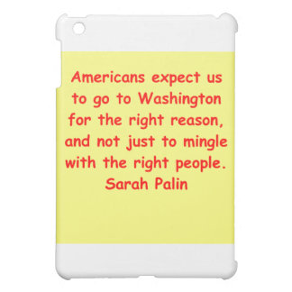 great Sarah Palin quote Case For The iPad Mini